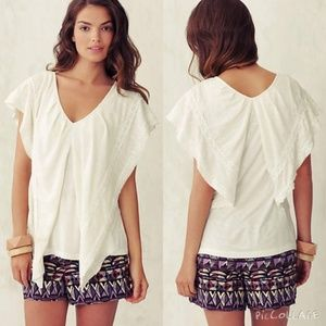 ANTHROPOLOGIE Cerro Bonete Blouse Top White {M50}